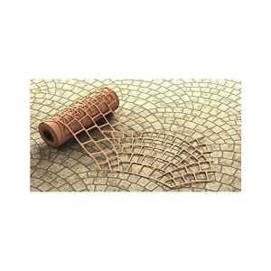 BonWay 32-252 Pochoir en papier pour béton décoratif Motif écailles de poisson 73 cm x 126 m
