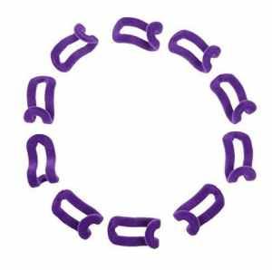 Nicedeal 10pcs Mini Flocage Cintre Crochets en Velours Cintre Clips Chiffon Armoire Crochets–Violet, Taille Unique