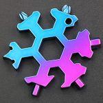 Bescita Tournevis créatif Keychain Wort Phillips Porte-clés Mini Outils d'Extérieur Portable