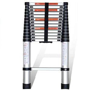 DD 5 Étape Mitre Polyvalent Pliable Échelle Télescopique Extension Portable Multi-usage Échelle Pliante Conforme Aux Normes EN131 (taille : Straight ladder. 4.4 m)