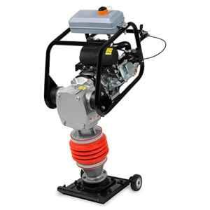 EBERTH Pilonneuse (Pression de compression 10 kN, Moteur essence 6,5 CV, Châssis compris)