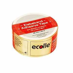 Ecolle 80500025 Ruban adhésif, Multi Couleur, 48 mm x 66 m, Set de 6 Pièces