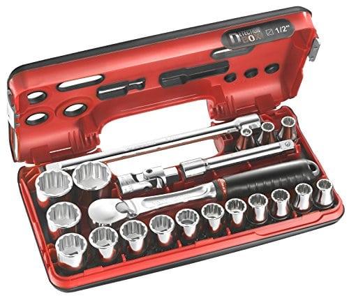 Facom SLDBOX112.PG – Coffret de serrage Détection Box 1/2″ 21 pièces – Cliquet cardan et douilles