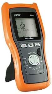 HT Instruments M75 Multimètre numérique TRMS et testeur d'installation VDE 0100 + testeur de LAN