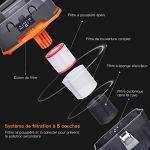 TACKLIFE Aspirateur Eau et Poussières, 15L Capacité sans Sac, Multi-Filtre HEPA, Tuyau 1.5m, Cordon d'alimentation 5m, Tube prolongateur 3 * 0.33m, 3 Buses -1200W PVC01B
