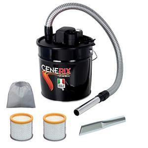 Cendres électrique cenerix 800W–18L avec double filtre et lance plate