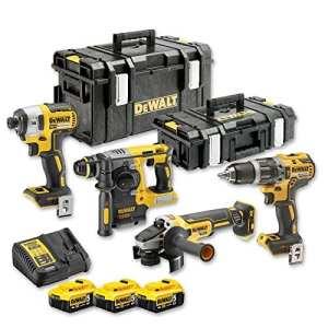 DeWalt – Kit 4 outils à batterie 18V 5Ah Li-Ion Brushless – DCK422P3