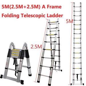 Generic Alumini Nium Telesco Échelle télescopique Fold Multifonction à 5m Portable Télescope télescopique en Aluminium E Multi Échelle Pliante américains Mult