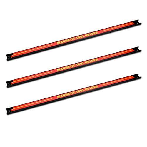 Navaris 3x barre magnétique pour outils – Baguette aimantée accroche murale divers outils – Rangement outillage maison garage atelier 60 x 2,3 cm