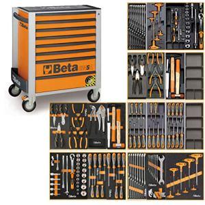 Beta C24SA Chariot à outils avec système anti-bascule et assortiment d'outils 191 pièces