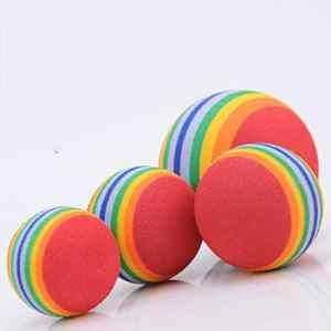 Colorful Pet Cat Kitten Soft Foam Rainbow Funny Play Activity Toys EVA Balls