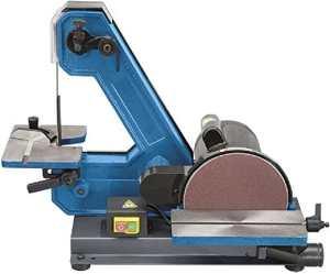 Ponceuse à ruban verticale et disque avec plans de travail inclinabili 450W Fervi 0138