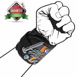BESROY Bracelet magnétique avec aimants puissants pour maintenir vis, clous, petits outils, cadeau spécial pour homme, électricien, mécanicien, bricolage bricolage