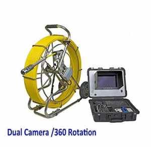 TQ Caméra d'inspection vidéo de Pipeline 60mts avec Rotation de 360 degrés Double caméra et boîte de contrôle DVR (v10-38DU)