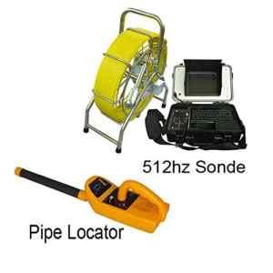 TQ Récepteur de câble Souterrain 60m câble CCTV Drain Rod Pipe caméra avec 512 Hz localisateur Tuyau de plomberie système de caméra d'inspection