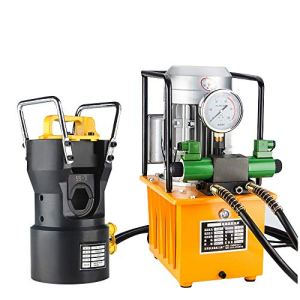 Huanyu 100T Machine à sertir pour noyau en acier en aluminium et fil de tonnage hydraulique Outil de tonnage en acier Borne en aluminium φ65 mm
