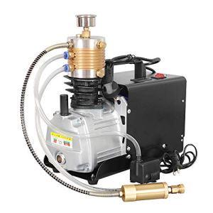 HUKOER Huitième génération Pompe à air comprimé à haute pression électrique, 300BAR 30MPA 4500PSI Pompe à air à haute pression Système Compresseur à air électrique PCP pour bouteille à gonflage