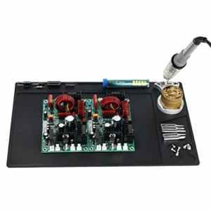 Malayas@ 327 x 206 mm Tapis à Souder en Silicone Tapis de Réparation 500 ℃ pour Réparer Téléphone Ordinateur Montre