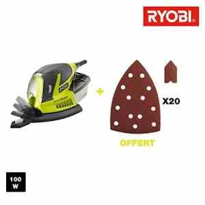 Ponceuse triangulaire RYOBI 100W – 20 abrasifs RPS100-GA20