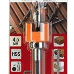 KWB 512004 Mèches spéciales bois dur en acier hautement résistant à la chaleur 4 mm