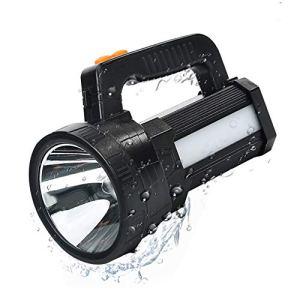 Lampe Torche LED Rechargeable Etanche IPX4, LED 3 en 1 Puissante 9600mAH, Lampe Camping Projecteur Portable, Lampe de Poche Rechargeable pour Randonnée Camping – Ceinture et Chargeur Fournis