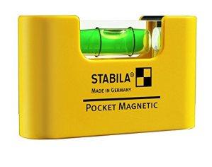 Stabila 17774/4 Niveau à bulle»Type Magnétique» 7cm, Jaune/Noir