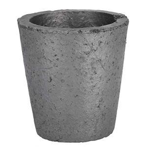 Salmue Creuset en carbure de Silicium en Forme de Coupe de 4 kg, creuset pour fonderie au Graphite, Outil de Fusion pour la Fusion d'outils dorés et argentés
