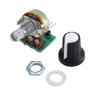 Module de potentiomètre WEIHAN 10K Ohm Module de résistance Module de potentiomètre rotatif à cône linéaire 3 broches pour Arduino avec capuchon Vert