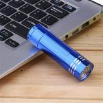 Multifonction 9 LED lampe de poche UV violet lumière alliage d'aluminium torche économie d'énergie portable papier argent vérification lampe