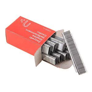 1000pcs agrafes en forme de u 1.2mm épaisses clous antirouille pour encadrement agrafeuse agrafeuse accessoires pistolet accessoires charpentier outil argent WEIWEITOE