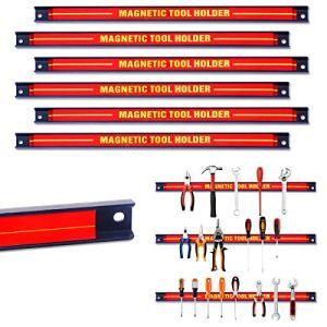 COSYWAY Barres Magnétiques Barre de Garage AtelierPorte-outils Magnétiques en Acie pour Maison,Garage,Cave,Atelier (6)