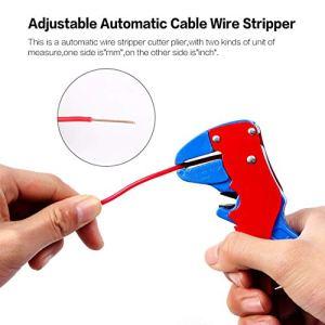 Momorain Dénudeur automatique réglable de fil de câble de la place 0,2-6 millimètres avec l'outil de dépouillement de fil de coupeurs de boulon de nez de courbure de bec de plume de couteau de coupeur