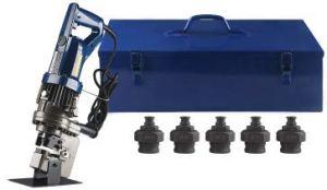 CGOLDENWALL Perforatrice électrique hydraulique pratique 10 mm d'épaisseur Plaque en fer/acier et 15 mm d'épaisseur Plaque en cuivre/aluminium Certificat CE ROHS (MHP-25 : plaque en acier 10 mm)