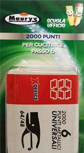 Maury's 2000 Punti Metallici Universali Per Cucitrice Passo 6