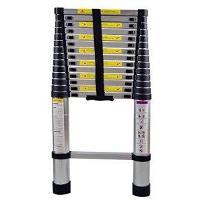 MCTECH Échelle télescopique en aluminium pliable 4,4 m – Capacité de charge de 150 kg (4,4m)