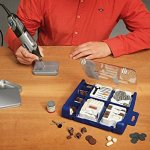 Dremel SC724 EZ SpeedClic Kit – Coffret de 150 Accessoires pour Outils Multifonction Rotatifs pour Découper, Poncer, Graver, Meuler, Nettoyer, Sculpter et Polir