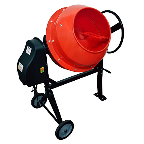 EBERTH Malaxeur à béton et mortier avec tambour de 160 litres et 650 Watt de puissance Bétonnière