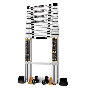 Échelle télescopique avec barre de support, portable, pliable, extensible, en aluminium, pour bricolage, maison, bureau, charge 150 kg