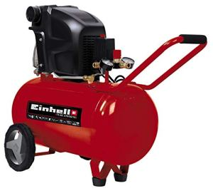 Einhell Compresseur TE-AC 270/50/10 (Puissance moteur 1800W, Capacité de la cuve : 50 L, Cuve garantie 10 ans contre la corrosion, Pied amortisseur de vibrations)