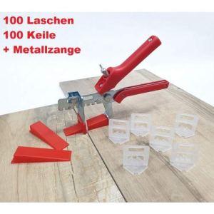 Kit de base pour carrelage 3 mm 100 feuilles + pince épaisseur de carrelage 3-12 mm