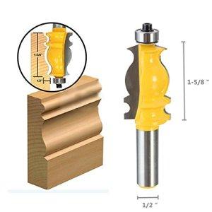 LMIAOM Outil de menuiserie pour menuiserie RB29 1/2 Shank Ogee Ciseau à bois Accessoires de bricolage