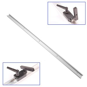 LMIAOM Rails en T de 800mm en T avec kit d'arrêt de piste d'onglet pour l'outil de menuiserie de la table à toupie Accessoires de bricolage
