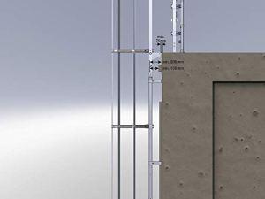 Mehrzügige échelles 530135 en acier inoxydable avec protection dorsale