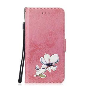 SEYCPHE Coque pour Huawei P Smart/Nova 3i,Flip Coque Premium avec Emplacement de Cartes 360°Housse étui Antichoc Conçu pour Huawei P Smart/Nova 3i Smartphone.Rose