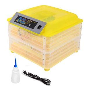 ZFF 112 Incubateur Œufs Automatique Tournant Et Température Humidité Contrôle pour Éclosion Poulet Canard OIE Caille Oeufs Fertilisés, Affichage LCD (Size : 110v)