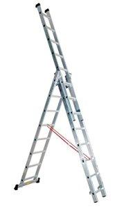 Escalux – Echelle transformable en Aluminium semi-pro 3 x 8 Haut travail 5.84 m – Escalux TR3