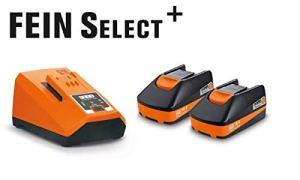 Fein 92604315010 Lot de 2 batteries de rechange multifonctions lithium-ion 18 V 3 Ah