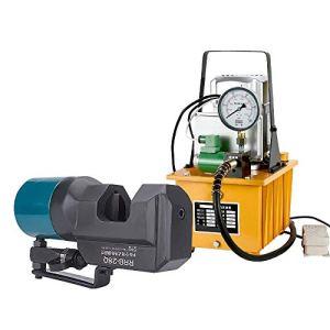 MXBAOHENG Électrique Hydraulique Rebar Cutter Acier Rebar Machine de Découpe pour Acier Rebar Gamme de Coupe 8-35mm avec HHB-700 Pompe