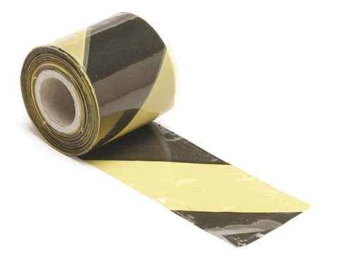 Perel 1188–Largeur 100Longueur Ruban de délimitation, 100m x 80mm, jaune/noir