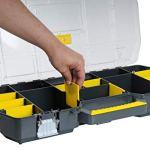 Stanley 1-97-514 Boîte a outils 60 cm avec organiseur Transparent
